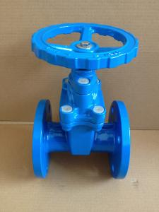 China (BS) Cast Iron Resilient Gate Valve nor-rising stem Flanged Ends on sale