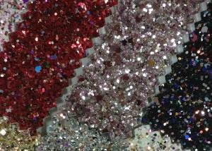 China Lurex Metallic Waterproof Glitter Cotton Fabric 1.38m Width For Fashion Garment supplier