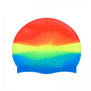 China Breathe Freely Silicone Swim Caps Anti Chloride Quick Drying Non - Fading on sale