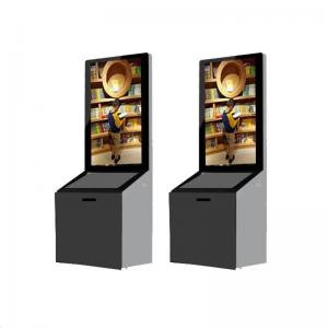 China 43 Inch Standing Advertising Display Bulit In Android / PC System With Donation Box on sale