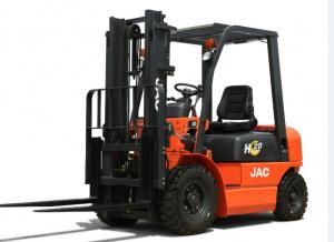 China 2 Tons Rated Capacity Diesel Forklift Truck Lifted Diesel Trucks With Excellent Manoeuvrability supplier