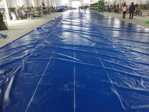 China High Tenacity Waterproof Tarpaulin Covers For Boat , Container Customized Size on sale