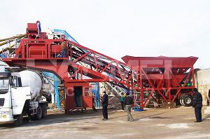 China newest portable mobile concrete batching plant for sale on sale