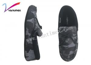 China Breathable camouflage trend mens casual slip on shoes / footwear on sale