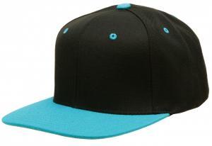 China Adult Snapback Baseball Caps Flat Visor Brim Custom Design With Embroidery Logo on sale