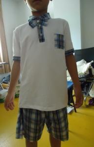 China Short Sleeve Childrens School Uniforms , Boy 2 Piece Boys School Uniforms on sale