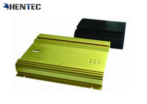 China Electrical Cover / Enclosure Extruded Black Aluminium Profile For Electronics wholesale