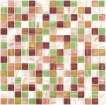 Línea especial teja del oro del gree de la primavera de mosaico de cristal del cuadrado del modelo de la mezcla del mosaico