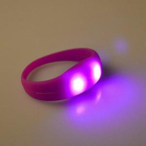 China Events 2018 Technologies Activities Radio Controlled Silicone LED Pink Glow Bracelet Light up Custom Wristband on sale