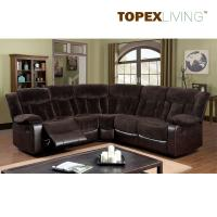 Fabric Cushion Leather Transitional Brown sectional Recliner Sofa Set,Living Room Sofas.Comfortable & Relax Sofas