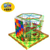 China 2018 hot sale kiddie and adult indoor one Layer Ropes Course, low ropes course on sale