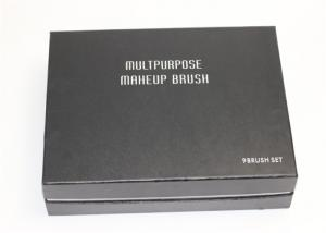 China Customized Durable Makeup Brush Cosmetic Packaging Box with Black foam insert on sale