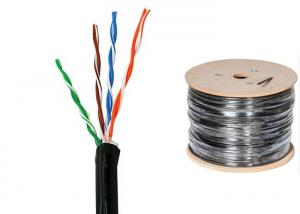 China UV Proof Cat6 UTP Lan Cable , Polyolefin Jacket Twisted Pair Ethernet Cable on sale