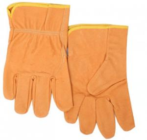 China Industrial working gloves/ Top grade apricot grain pigskin merchanica glove and leather rigger gloves in work glove on sale