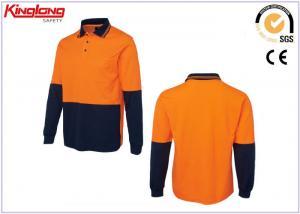 China HOLA - Camisas uniformes reflexivas del trabajo de la seguridad de la fuerza, polos anaranjados fluorescentes on sale