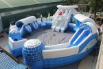 Huge Commercial Inflatable Water Park , Frozen Themed Aqua Park Equipment