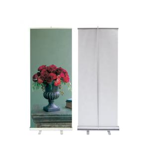 China 80x200cm Roll Up Banner Display Stand Digital Printing Sturdy Aluminum Frame on sale