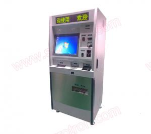 China High quality 19 inch touch screen Currency exchange machine with coin hopper and passport reader on sale