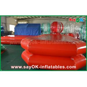 China Red PVC Inflatable Water Pool Air Tight Swimming Pond For Children Playing on sale