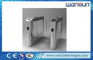 China High - grade Aleck Plate RFID Flap Barrier Turnstile Pedestrian Access Control on sale