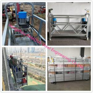 China Hot Dip Galvanized Suspended Scaffold Platform With Heavy Loading Capacity on sale