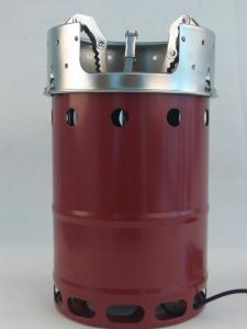 China highland using portable camp stove with turbo fans Red rose color on sale