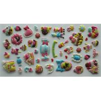 Cute Cookies Puffy Stickers 3D Pearly PVC Dimensional For Stationery