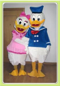 Quality custom design adult plush disney character daisy cartoon couple costumes for sale