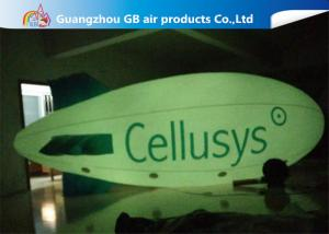 China Hot Commercial Inflatable Advertising Balloon , Giant Helium Blimp With LED Light on sale