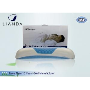 China Bamboo Fiber Memory Foam Sleep Pillow With Cool Gel , Lux Living Gel Pillow on sale