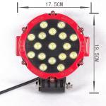 luz 4x4 do trabalho do diodo emissor de luz do caminhão de 7inch 51W fora da luz de condução da estrada