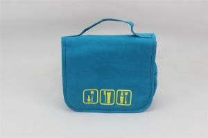 China Blue Color Small Nylon Storage Bag Case With Customized Logo , 210D Polyester Material on sale