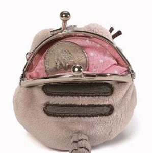 China Pusheen Mini Plush Coin Purse Keychain Licensed Gund NWT For Small Gift on sale