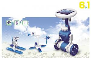 China Blue / White Plastic Diy Arduino DOF Robot Kit ,  6 In 1 Educational Diy Solar Kits on sale