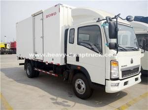 China Sinotruk Light Duty Ice Box Truck Right Hand Driving Truck With KV 300 Refrigerator on sale