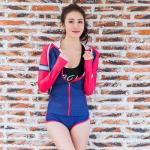 Hot sale Long sleeve  lycra swimwear &200g fabric durable High-elastic sports wear &UV 50+ diving suit