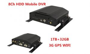 China 8 Channel Car Mobile DVR Real Time HDD Vehicle Car DVR With 3G 8V-36V on sale