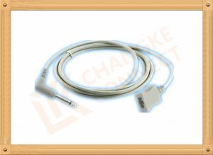 China PVC Gray Medical Temperature Probe Adapter Cable YSI 400 Series on sale