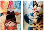 3D Flip Lenticular Anime Poster Printing Dragon Ball / 3 Dimensional Pictures