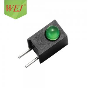 China green diffused diode led holder 3mm led green emitting diode led lectronic indicator on sale
