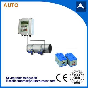 China Wall Mounted Clamp On Type Ultrasonic Flowmeter/Fixed Ultrasonic Flow Meter with reasonabl on sale
