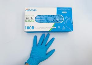 China Multiple Color Customization Nitrile Disposable Safety Hand Gloves / Effectively Block Bacteria on sale