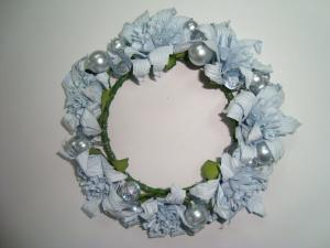 China Christmas White Orchid Artificial Ddecorative Flowers Garlands with Silver Pearl on sale
