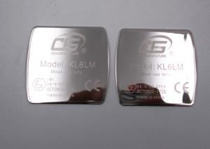 China Titanium Metal Label Plates Custom Engraved Metal Signs Mirror Surface Laser Logo on sale