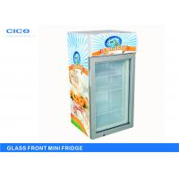 China Upright Glass Front Beverage Fridge Customized Size CE Certification on sale