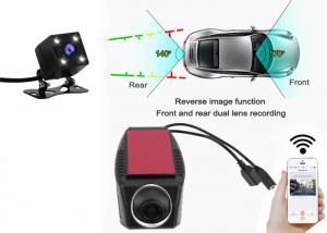 China Wifi Car DVR Dash Camera Video Recorder Camcorder Dual Camera Lens Hidden Mini Camera Full HD 1080P  DVR-A4655 on sale