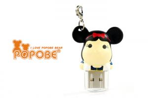 China 2 Inch White POPOBE Bear Cute USB Flash Drives Gift  for Brand Promotion Item on sale