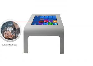 China Interactive Digital Signage Kiosk All In One Desktop Touch Screen Restaurant Table on sale