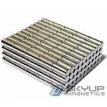 High Performance cylinder  magnets made by permanent rare earth Neo magnets produced by Skyup magnetics