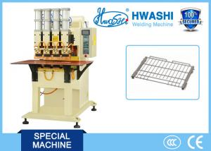 China Four Head Pneumatic Wire Welding Machine , Wire Shelf Manual Spot Welding Machine on sale
